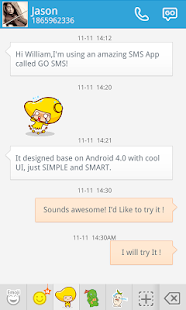 GO SMS MANGO ANIMATED STICKER- screenshot thumbnail