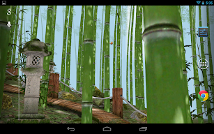 Bamboo Forest 3D Live Wallpaper screenshot for Android