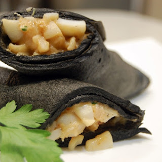 Shrimp and Calamari Black Crepes.