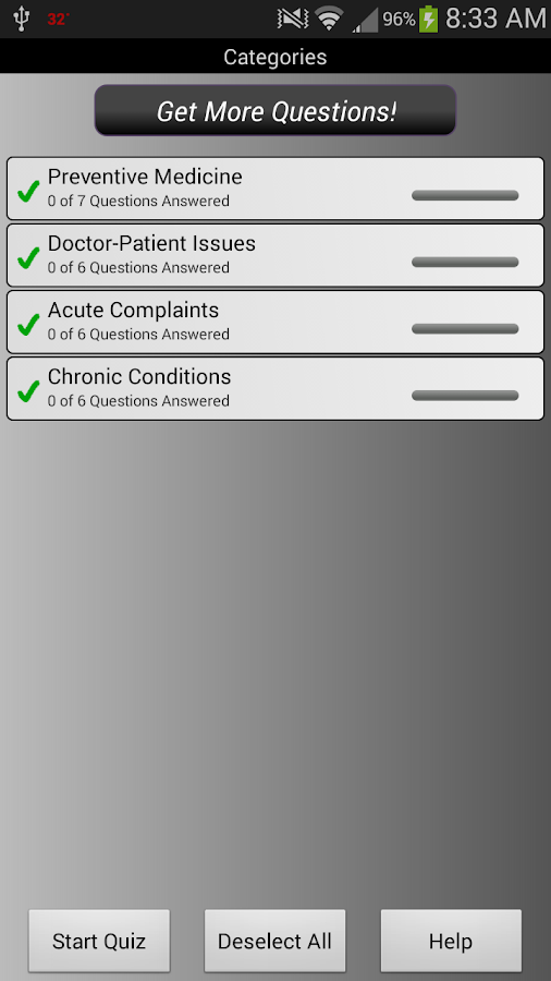 Family Medicine PreTest - screenshot