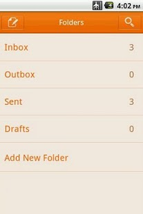 Easy SMS solid Orange theme screenshot