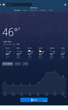 MSN Weather - Forecast & Maps 1.1.0 screenshot 18613