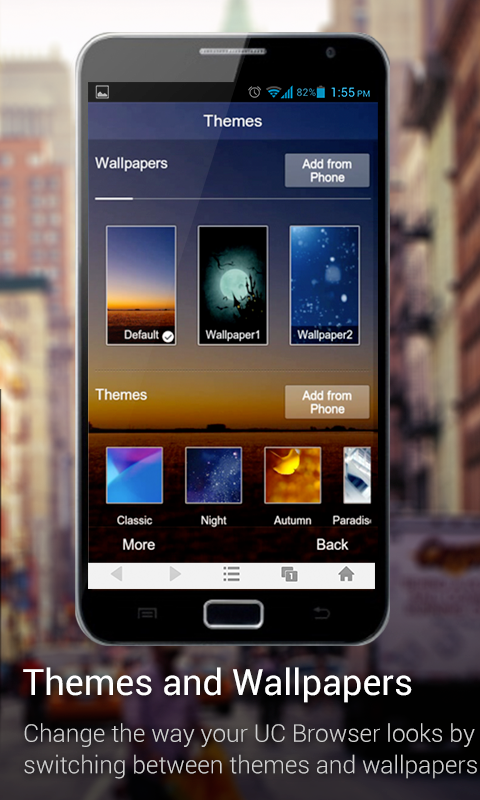 UC Browser for X86 Phones - screenshot