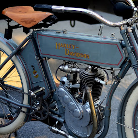 Antique Harley by Lorraine D.  Heaney - Artistic Objects Antiques ( , land, device, transportation )