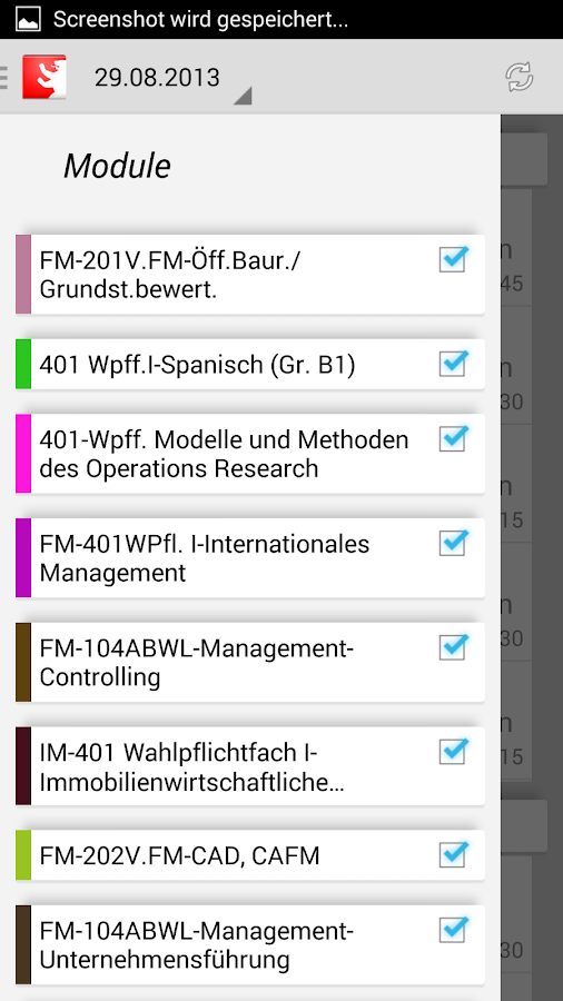 HWR Berlin Stundenplan FBII- screenshot