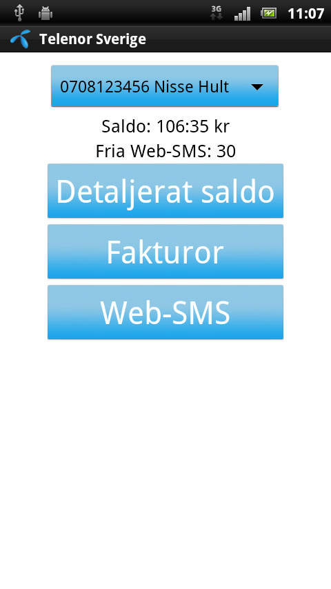Telenor Sverige - screenshot
