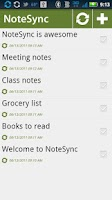 Screenshot of NoteSync