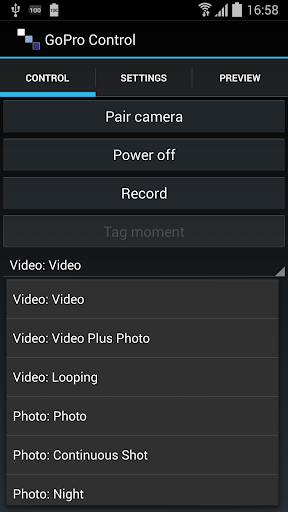 Camera Control - GoPro Hero 4