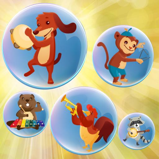 音樂氣泡的孩子 教育遊戲為幼兒 ! 教育 App LOGO-APP開箱王