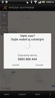 Screenshot of Dopravný servis Rádia Expres