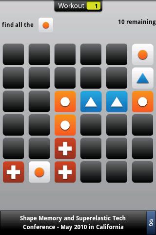 Memory Trainer: captura de pantalla