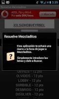 Screenshot of Solve Mezcladitos