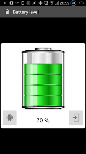 Show battery level