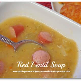 1.  German Red Lentil Soup.