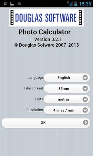 Douglas Photo Calculator