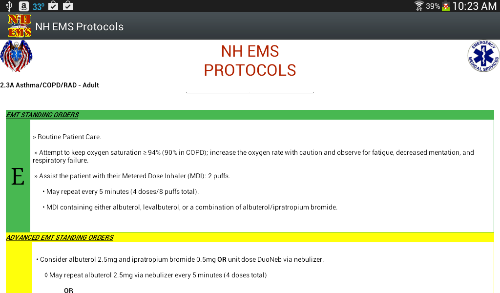 NH EMS Protocols- screenshot