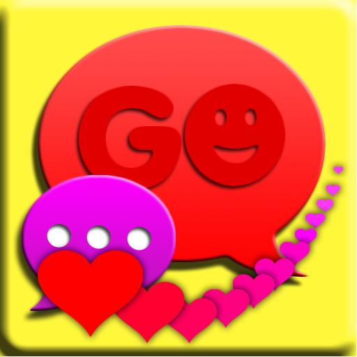 个人化のSMS PROラブリーハートのテーマをGO LOGO-記事Game