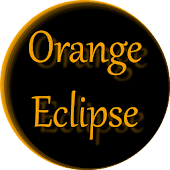 Orange Eclipse Launcher Theme