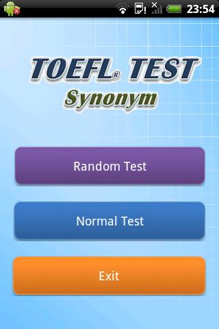 TOEFL Synonym