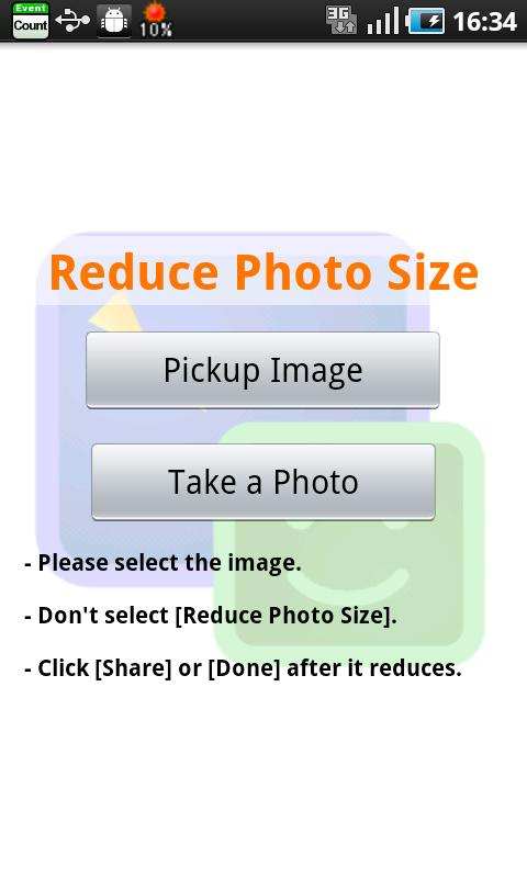 Reduce Photo Size - screenshot