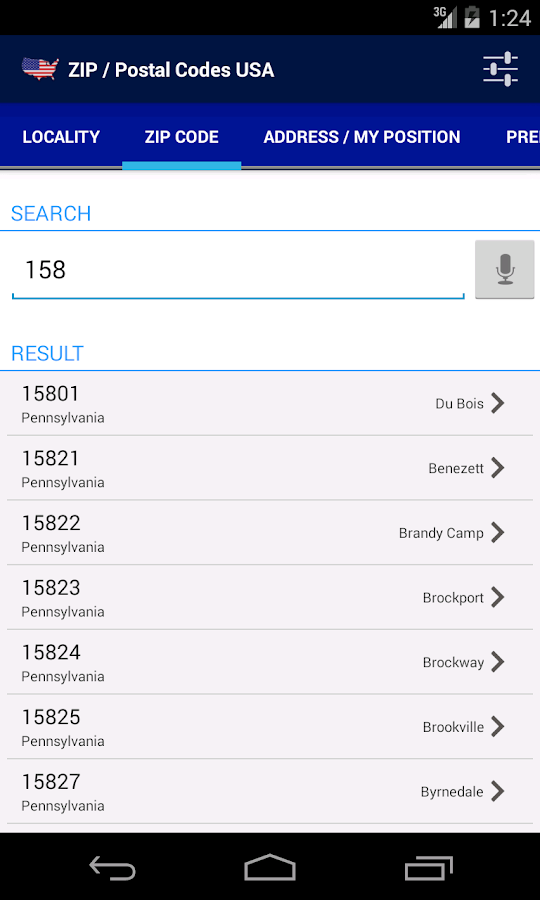 Zip Postal Codes Usa Android Apps On Google Play