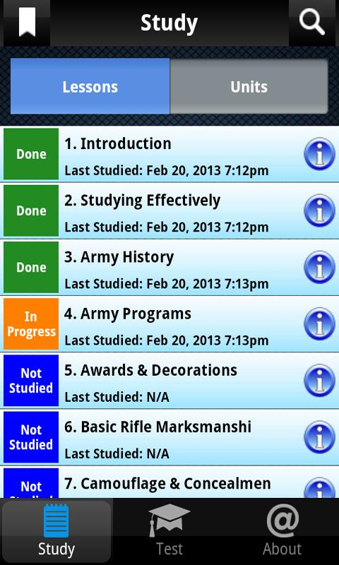 PROmote - Army Study Guide - screenshot