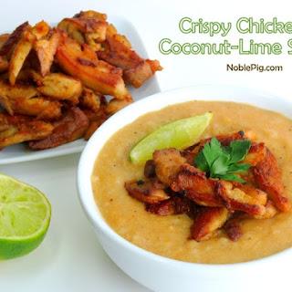 Crispy Chicken Coconut-Lime Soup