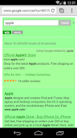 Screenshot of Green Search for Google™