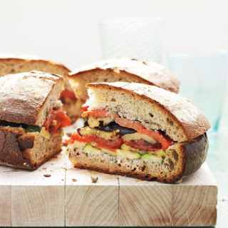 Grilled Ratatouille Muffaletta.