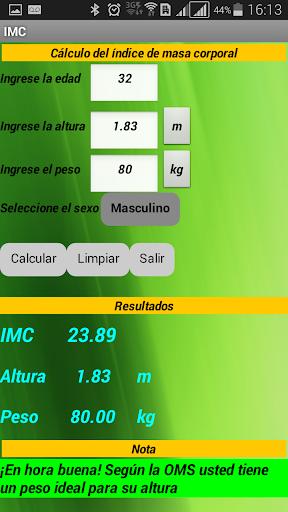 IMC calculadora