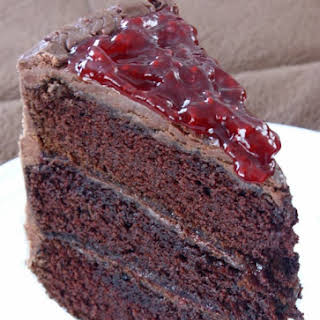 Chocolate Cake with Raspberry Filling.