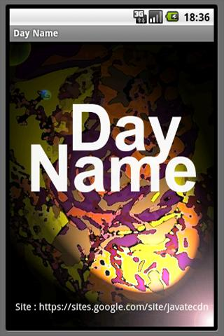 Day Name - screenshot