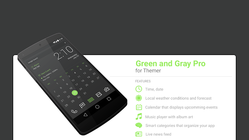 Green and Gray Pro UI Theme