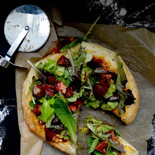 Mexican Salad Pizza ~ Quinoa Crust
