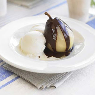 Pears with Chocolate Sauce Recipe