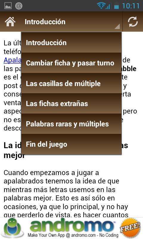Consejos para Apalabrados - screenshot