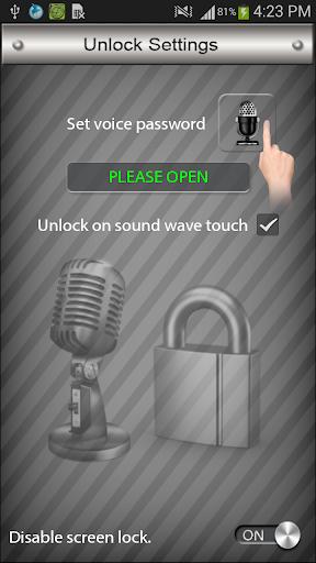 話音屏幕鎖定