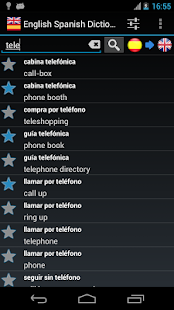 Offline English Spanish dict.- screenshot thumbnail