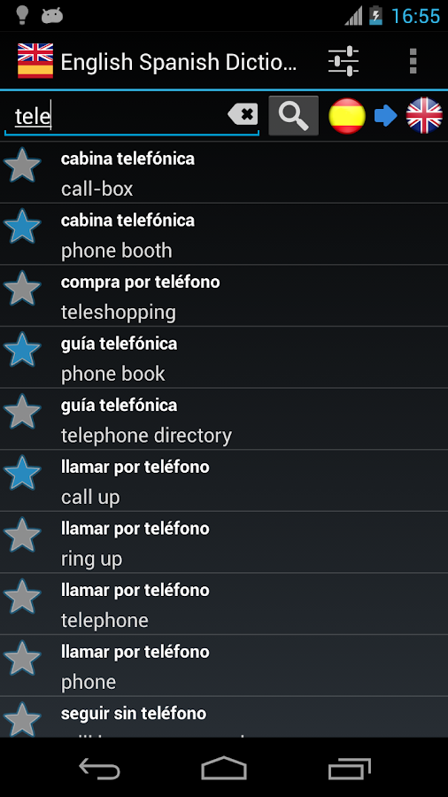 Offline English Spanish dict. - screenshot