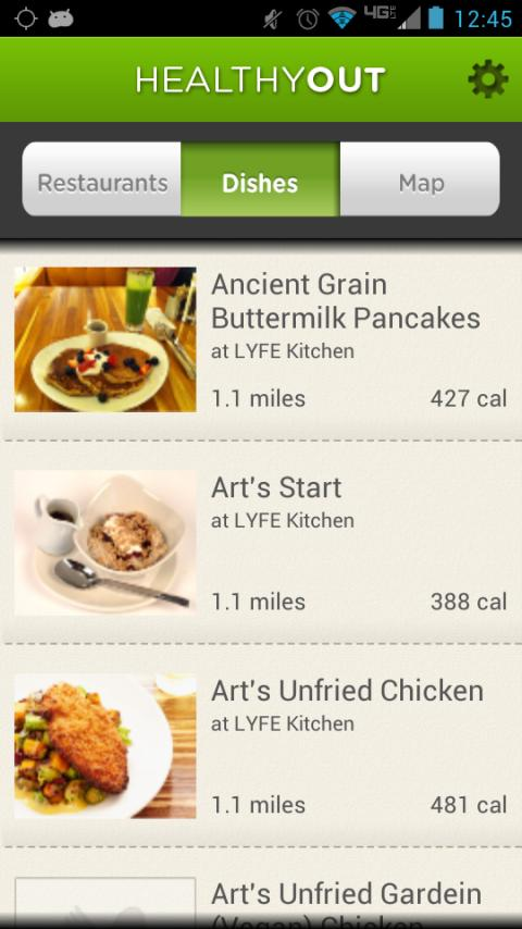 HealthyOut Healthy Meal Finder - screenshot