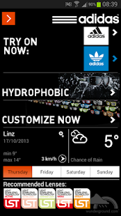 adidas eyewear app - screenshot thumbnail