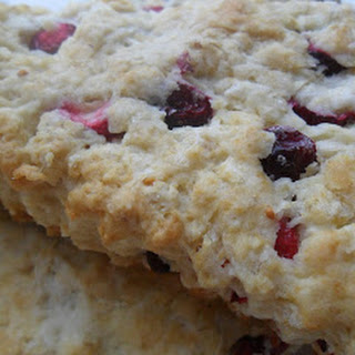 Cranberry Oatmeal Sourdough Scones with Orange Glaze