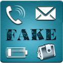 Fake Call, SMS,Battery,Balance icon