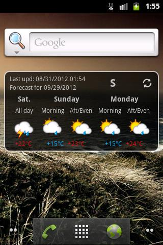 Trentino Meteo Widget - screenshot
