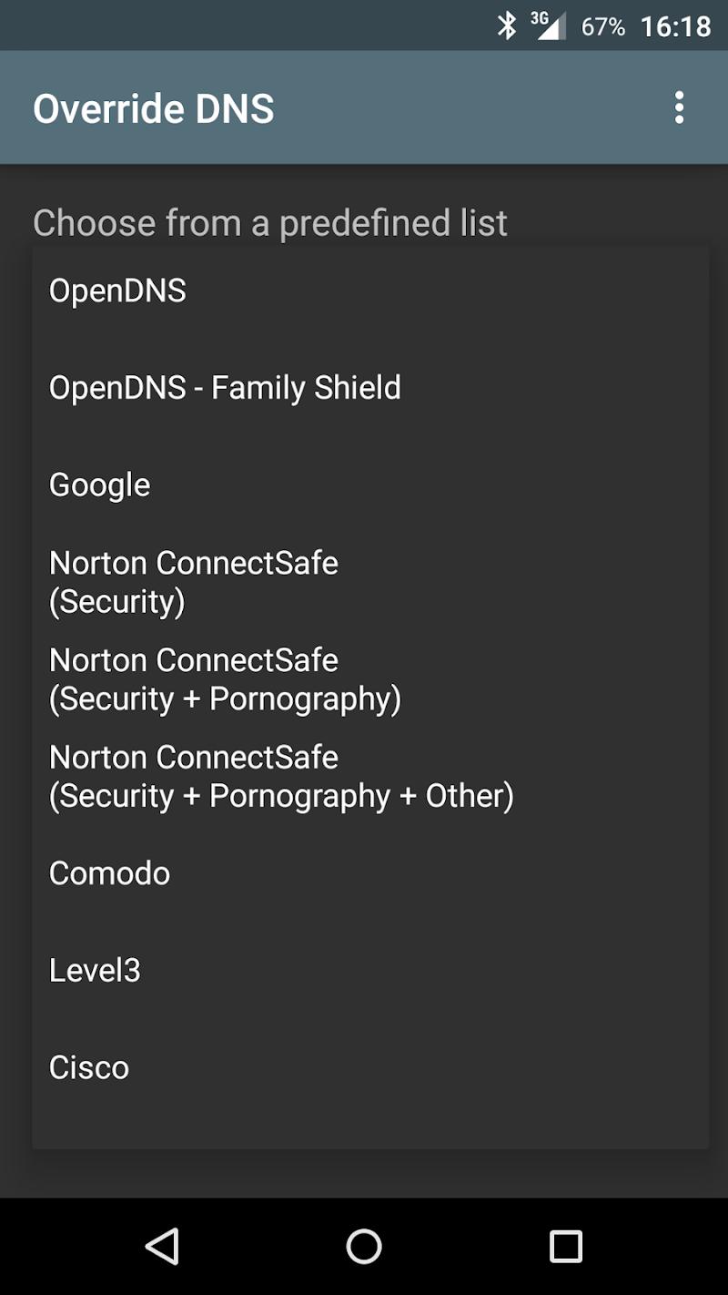 Override DNS (a DNS changer) Screenshot 2