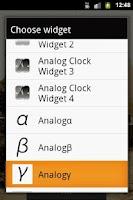 Screenshot of Analog Clock γ
