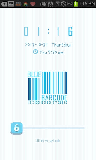 Blue Barcode GO locker theme