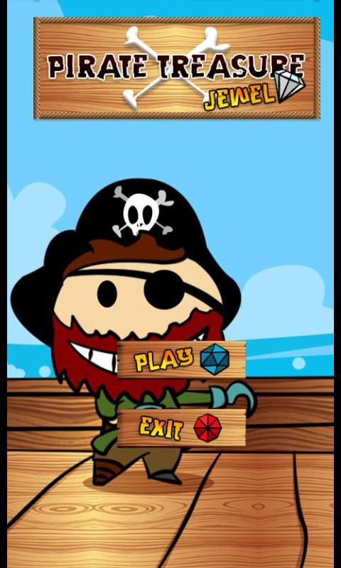 pirate treasure jewels ad free - screenshot