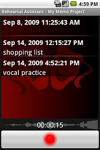 Rehearsal Assistant/VoiceRecrd - screenshot thumbnail