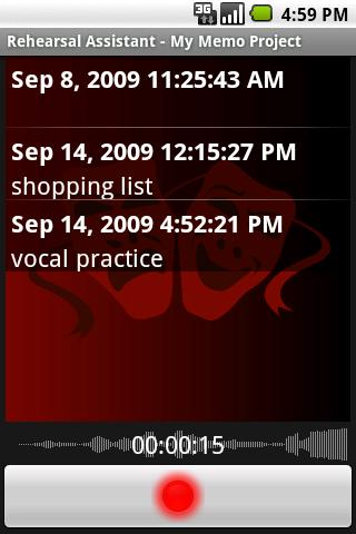 Rehearsal Assistant/VoiceRecrd - screenshot